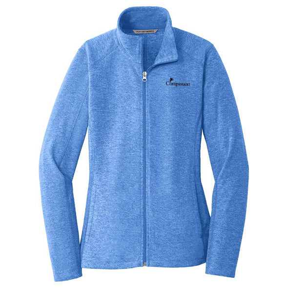 Compassion - Ladies Zip Jacket Small / Heather Royal Apparel