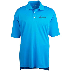 Compassion Adidas Golf Men's Climalite Pique Polo Blue