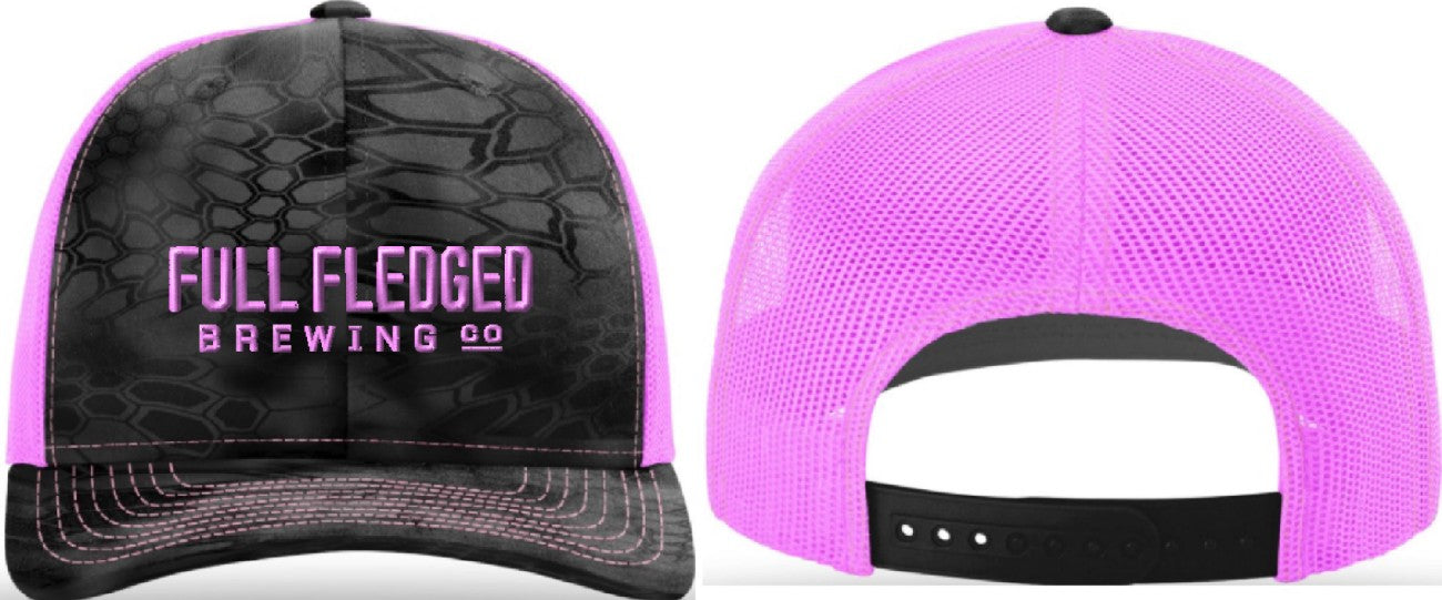 Black & Neon Pink Trucker Hat