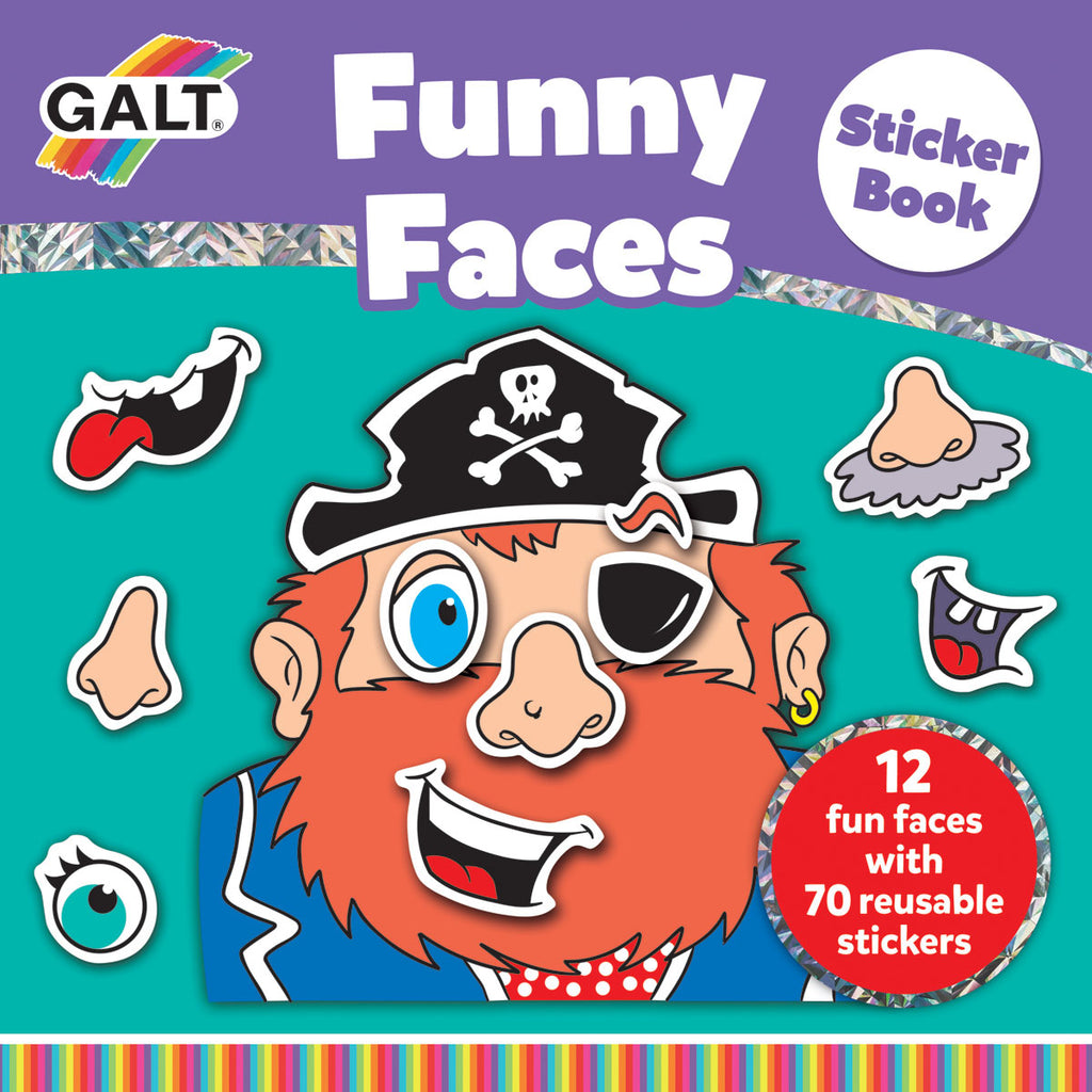Image of Galt Funny Faces Sticker Book