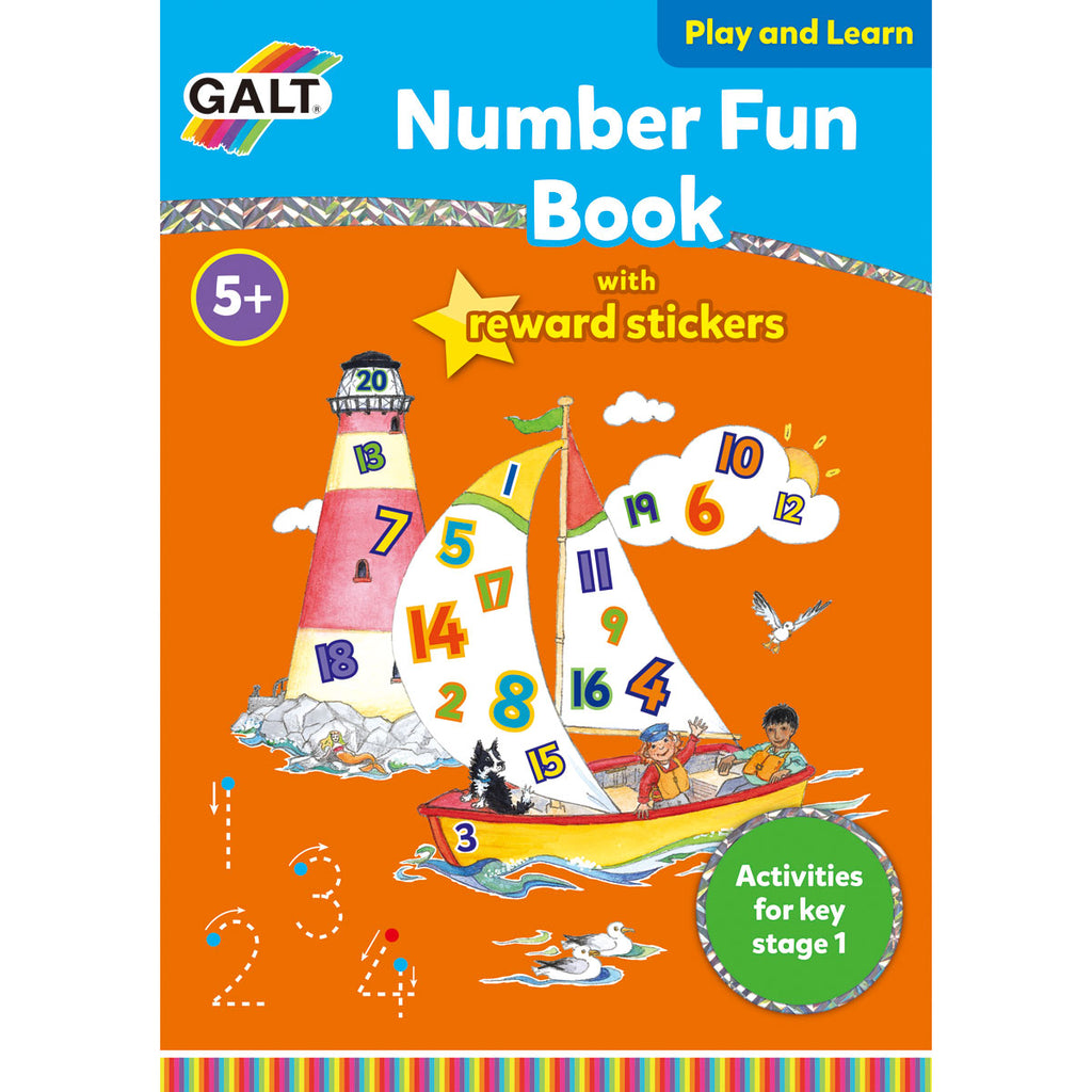 Image of Galt Number Fun Book with Reward Stickers