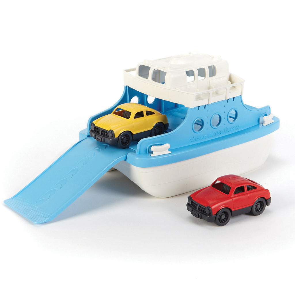 Image of Green Toys Ferry Boat with Cars