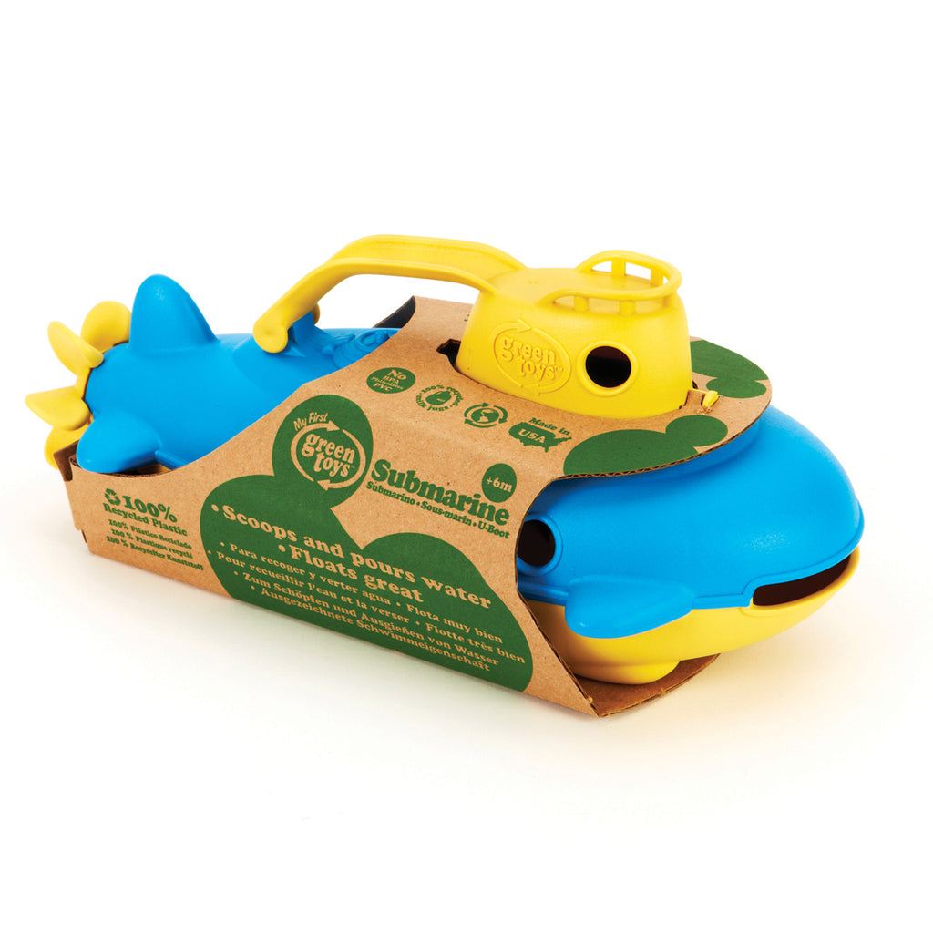 Image of Green Toys Submarine - Yellow Handle