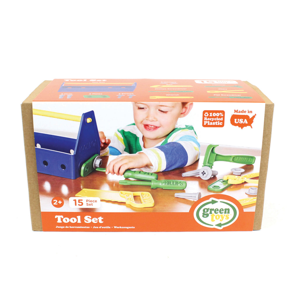 Image of Green Toys Tool Set - Blue