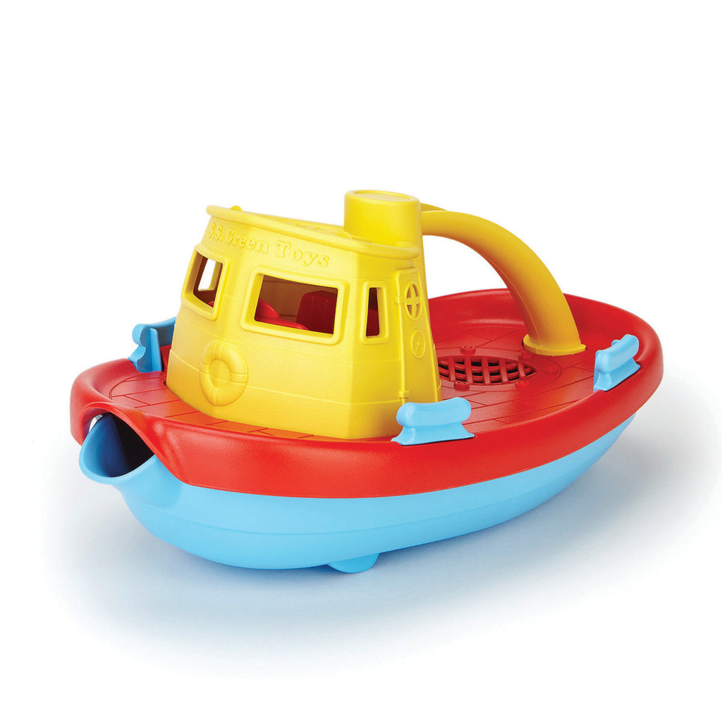 Image of Green Toys Tug Boat - Yellow Handle