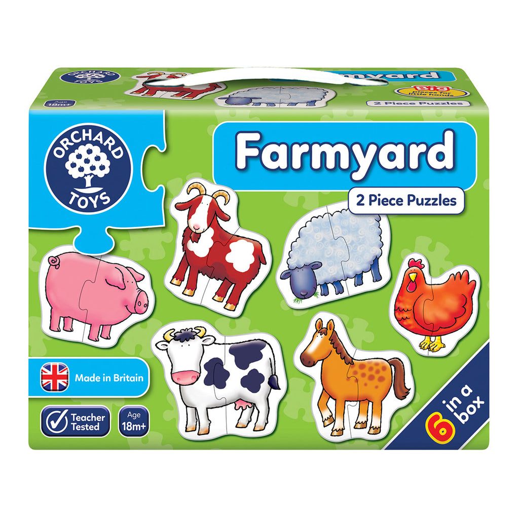 Image of Orchard Toys Farmyard 2 Piece Puzzles