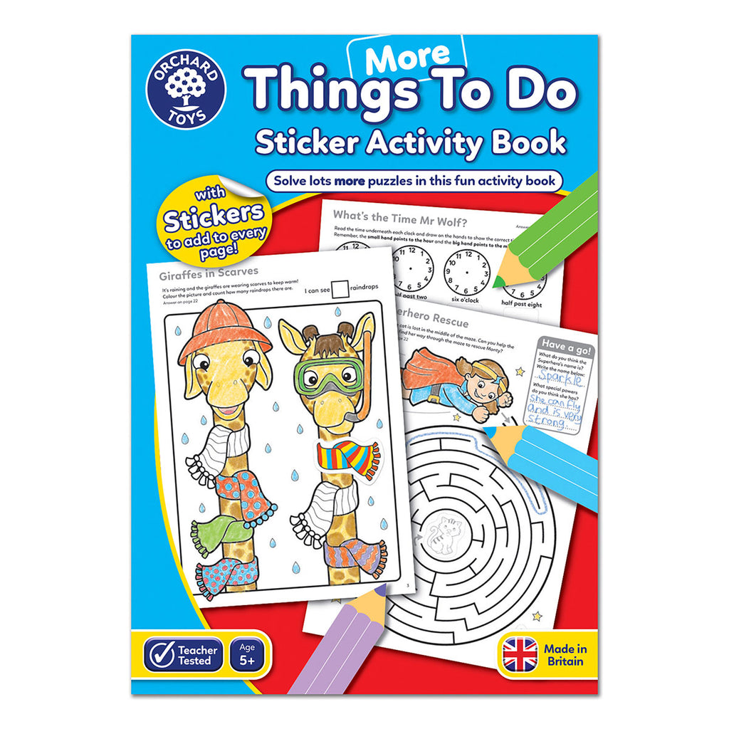 Image of Orchard Toys More Things To Do Sticker Activity Book