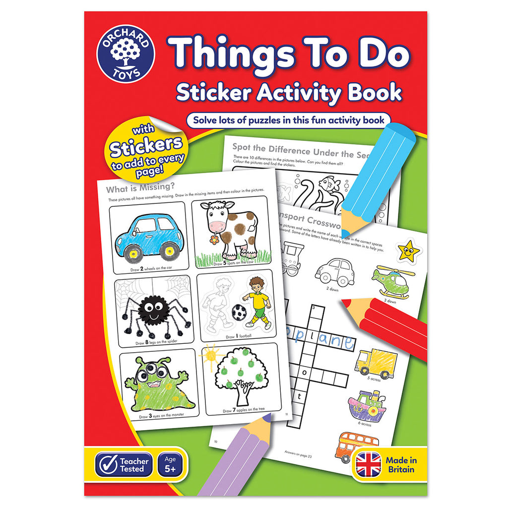 Image of Orchard Toys Things To Do Sticker Activity Book