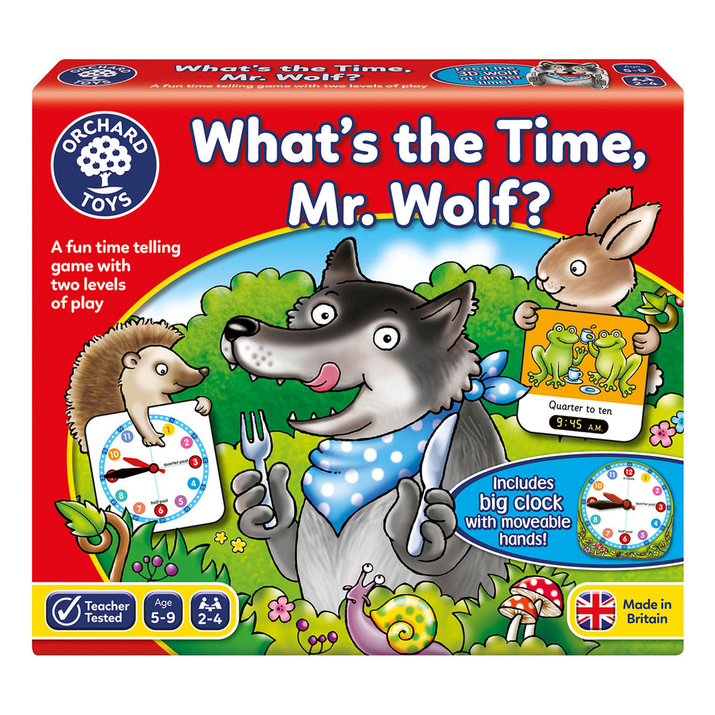 Image of Orchard Toys What's the Time Mr. Wolf?