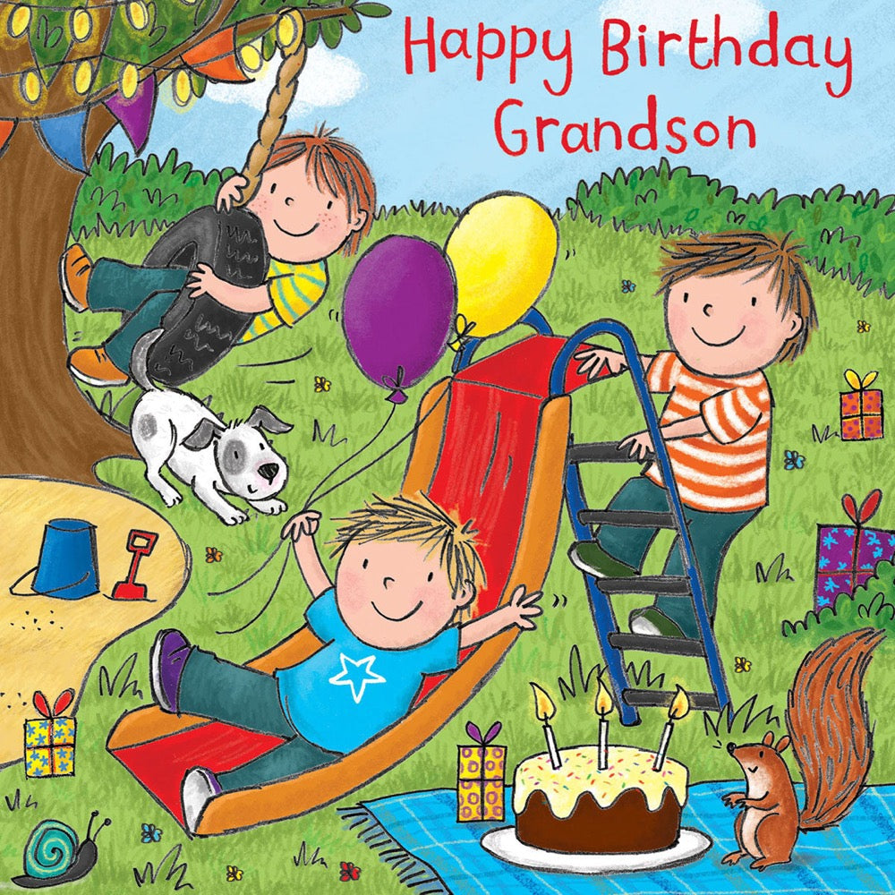 Image of Twizler Cards Maisie & Milo Happy Birthday Grandson
