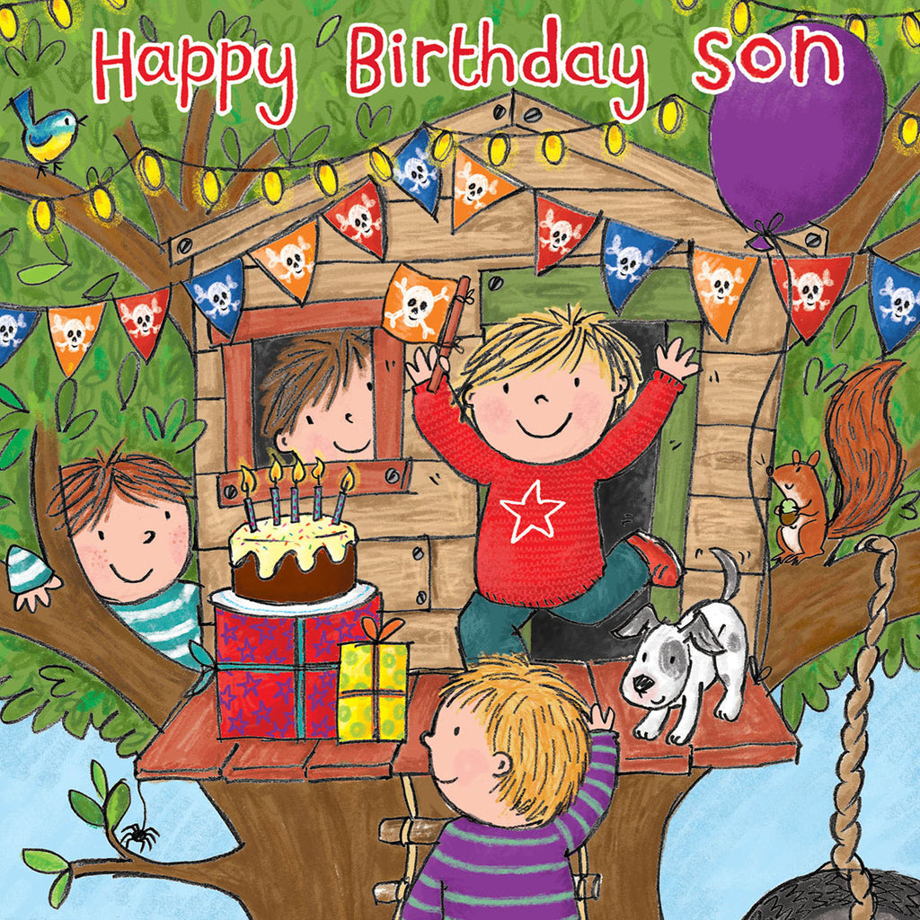 Image of Twizler Cards Maisie & Milo Happy Birthday Son