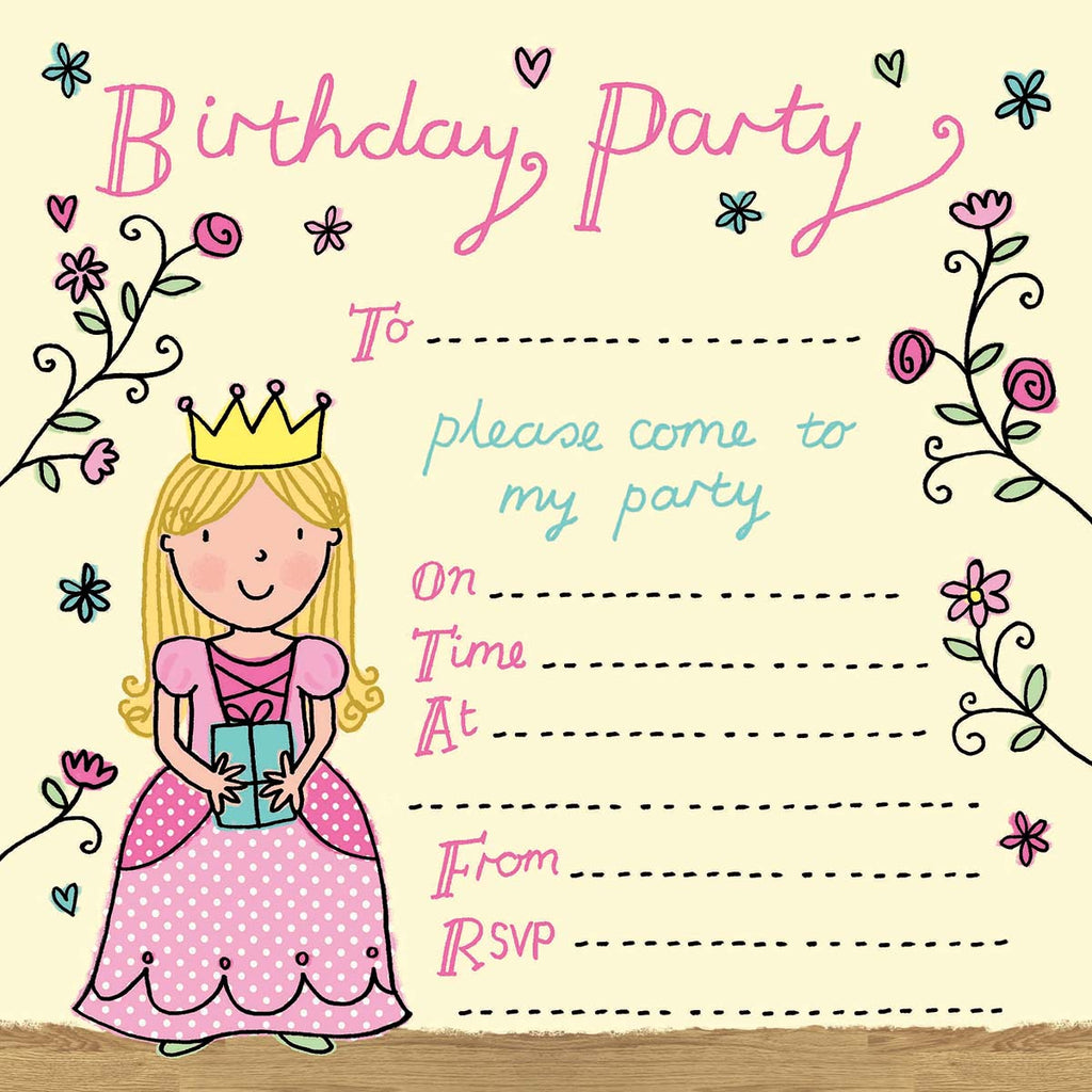 Image of Twizler Cards Princess Party Invitations