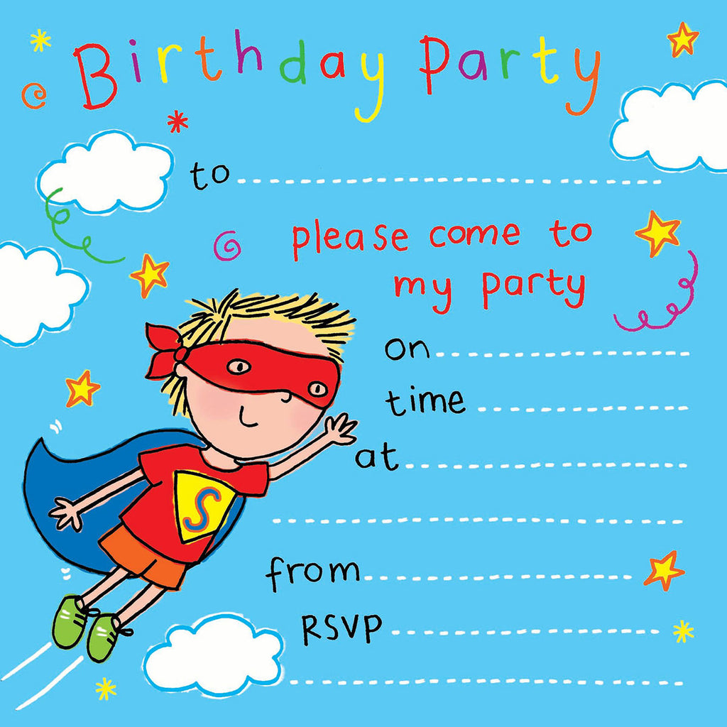 Image of Twizler Cards Superhero Party Invitations