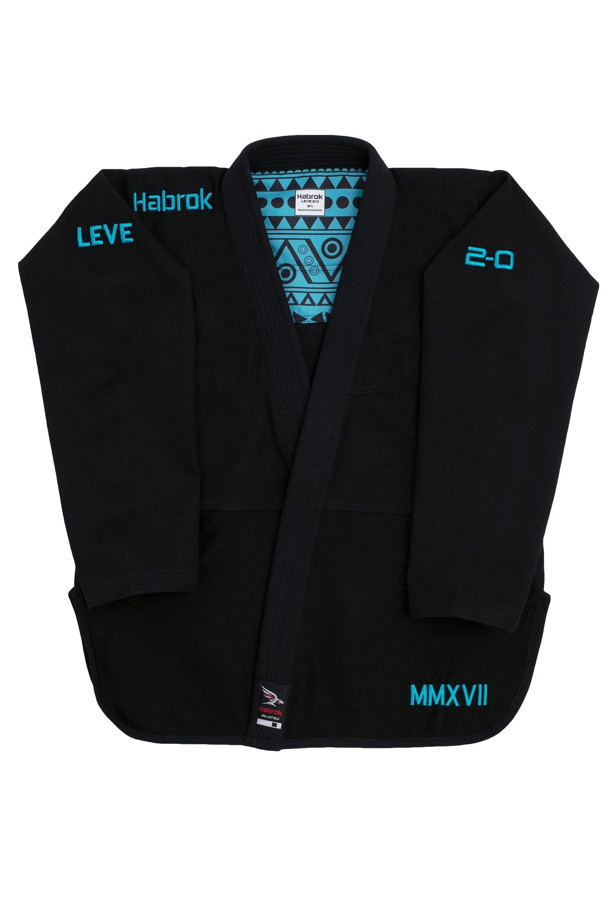 Habrok Jiu Jitsu Gi A00 / BLACK Leve 2.0 | Men | Premium Ultra Light Weight Gi 680334793337