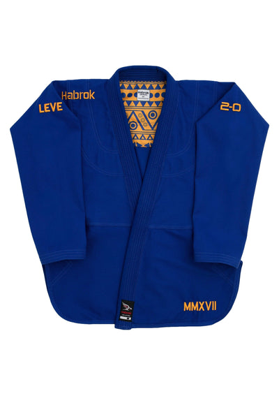 Habrok Jiu Jitsu Gi A00 / BLUE Leve 2.0 | Men | Premium Ultra Light Weight Gi 680334793405