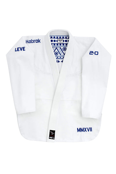 Habrok Jiu Jitsu Gi A00 / WHITE Leve 2.0 | Men | Premium Ultra Light Weight Gi 680334793269