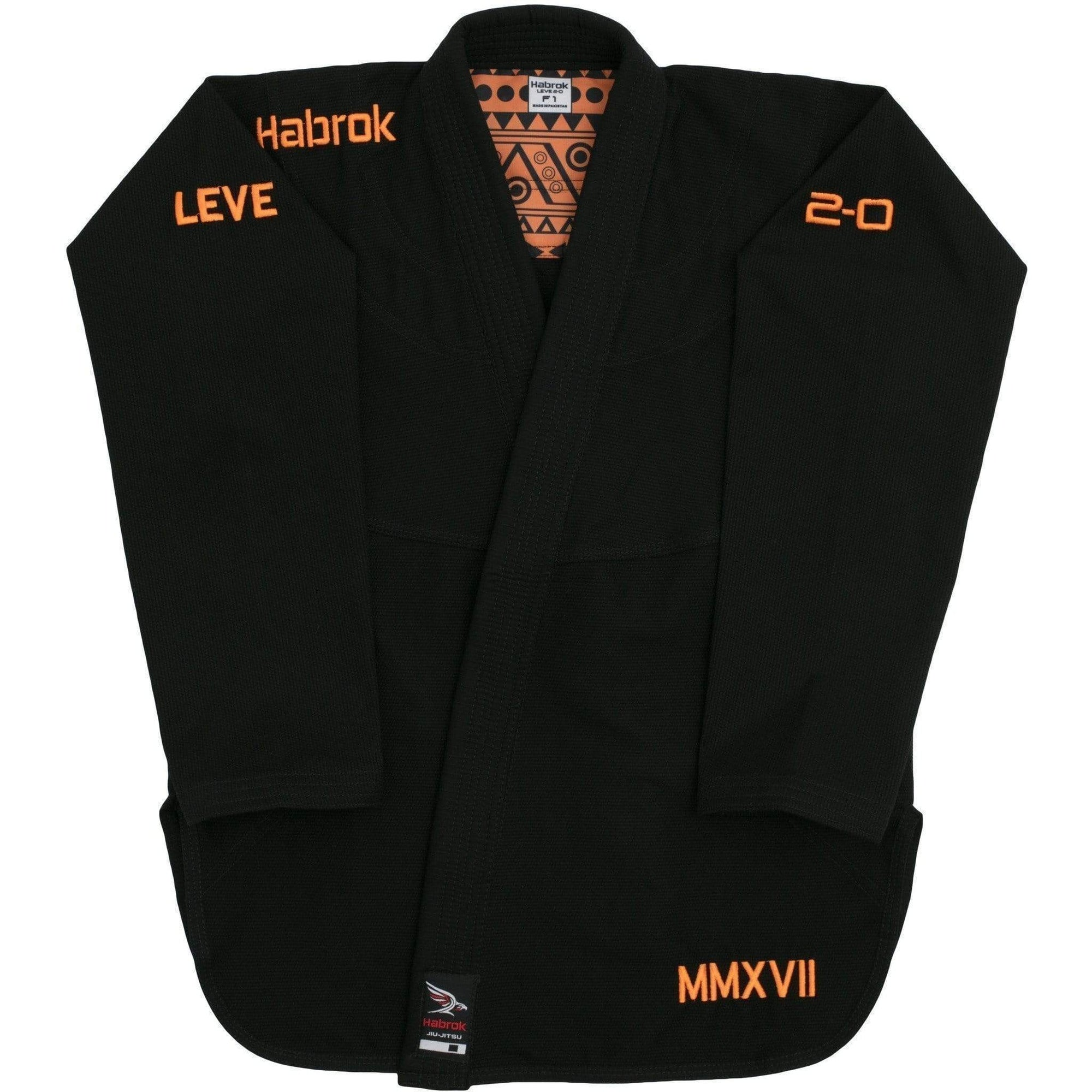 Habrok Jiu Jitsu Gi F0 / BLACK Leve 2.0 | Women | Premium Ultra Light Weight Gi 680334793474