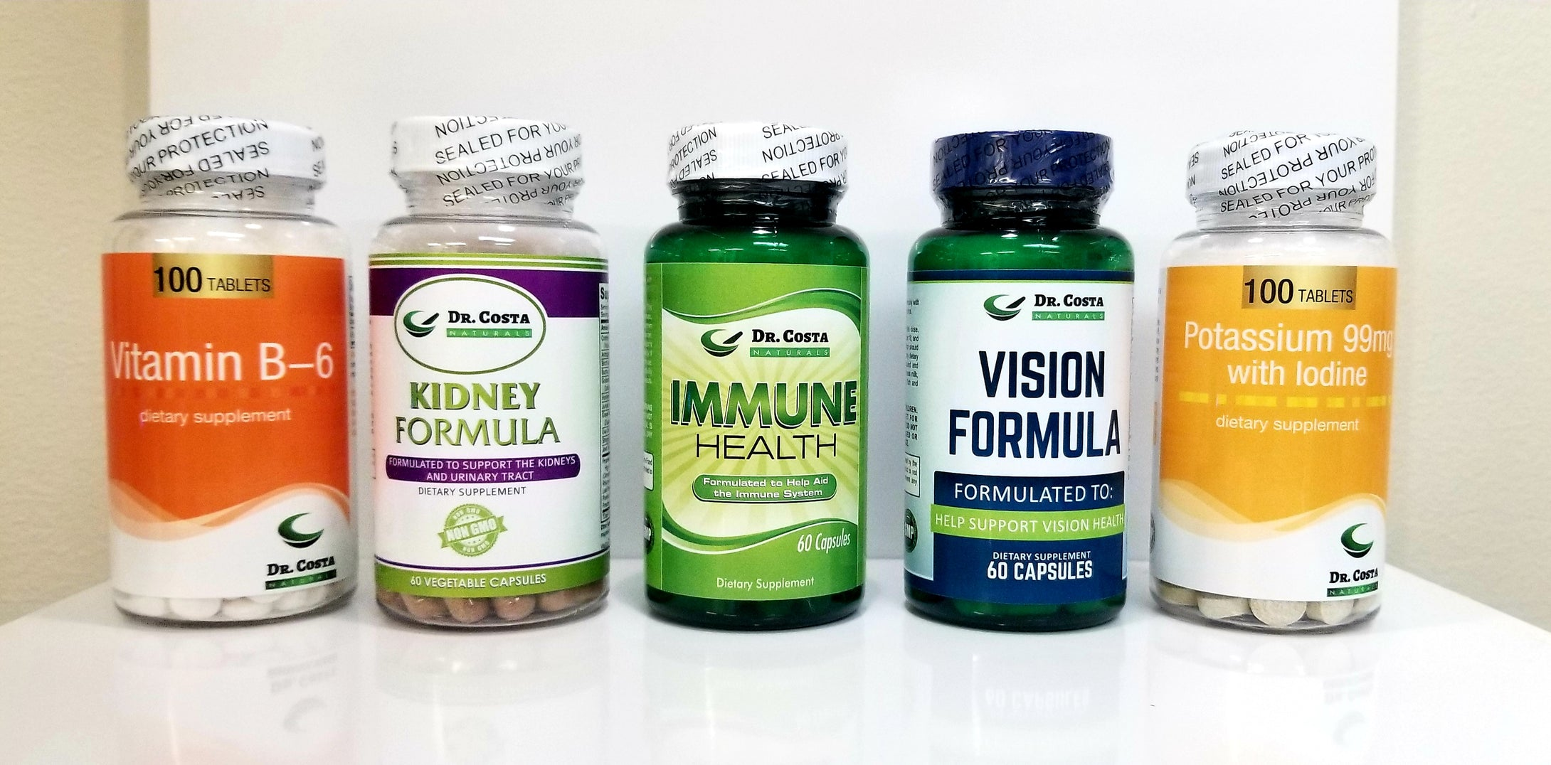 Vitamin B-6,  Kidney Formula, Immune Health, Vision Formula and Potassium