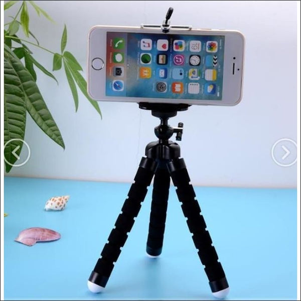 Octopus Flexible Tripod Phone Holder - Black