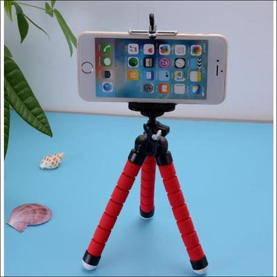 Octopus Flexible Tripod Phone Holder - Red