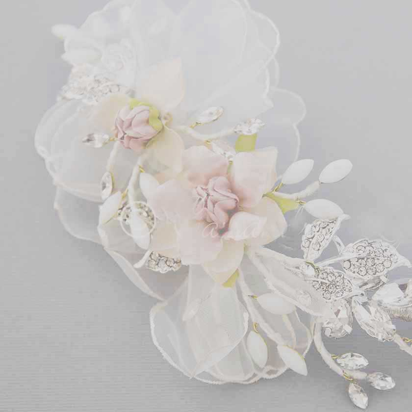 Bridal Hair Flowers from Cassandra Lynne