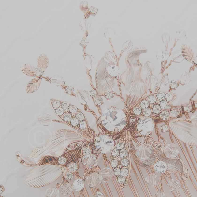 Rose Gold Wedding Headpieces from Cassandra Lynne