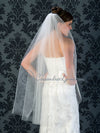 Cut edge 45 inch wedding veil