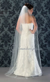 Floor length wedding veil