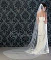 Custom Bridal Veil with Crisp Cut Edge