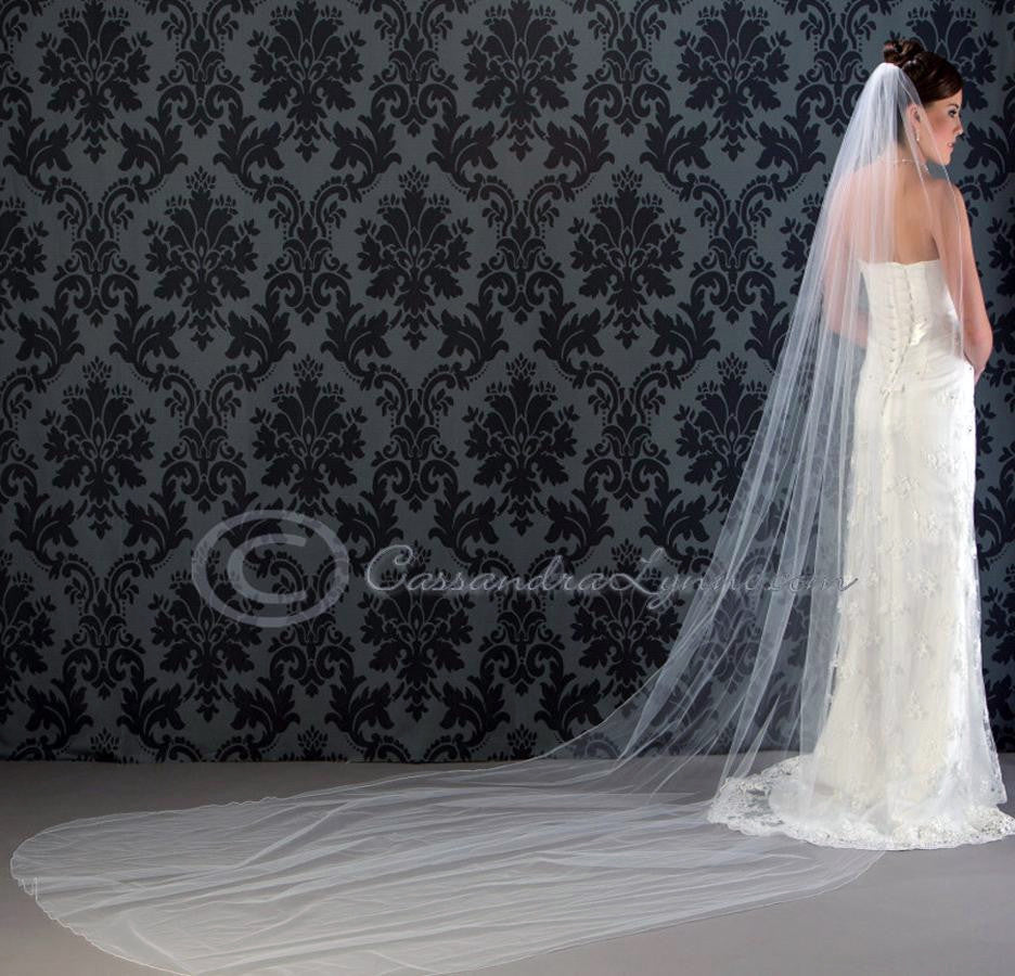 Royal Cathedral Veil 144 Inch Corded Edge