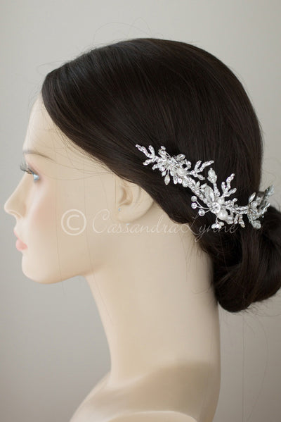 Beach Wedding Pearl and Coral Bridal Headpiece