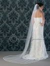 Lace Wedding Veil Circular Chapel Length