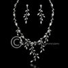 Bridal Jewelry Necklace and Earrings of Marquise CZ Vines
