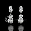 Classic Wedding CZ Earrings Teardrop and Oval Jewels