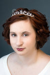 Wedding Tiara with Pearls and Crystal Starfish Beach