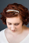 Beach Tiara Comb with Starfish and Freshwater Pearls