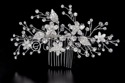 Crystal Bridal Hair Comb with Rhinestones