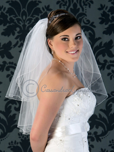 Two Layer Bridal Veil 25 Inch with Corded Edge