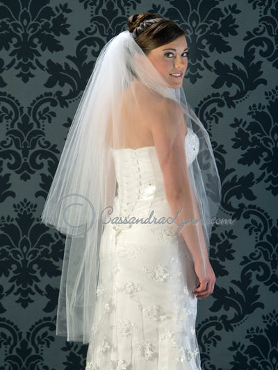 two tier waltz veil
