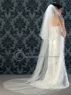 Cathedral satin cord edge veil