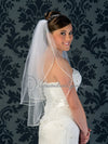 Standard cut two tier satin cord edge veil.