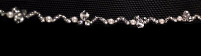 Royal Bridal Veil with Pearls and Beads