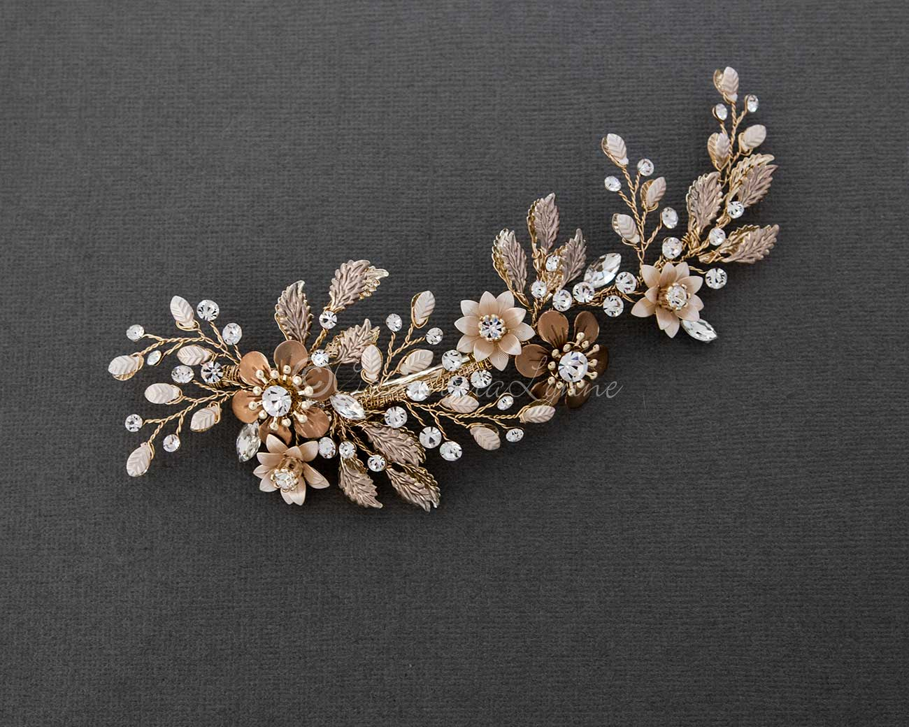 Gold Flower Wedding Hair Clip