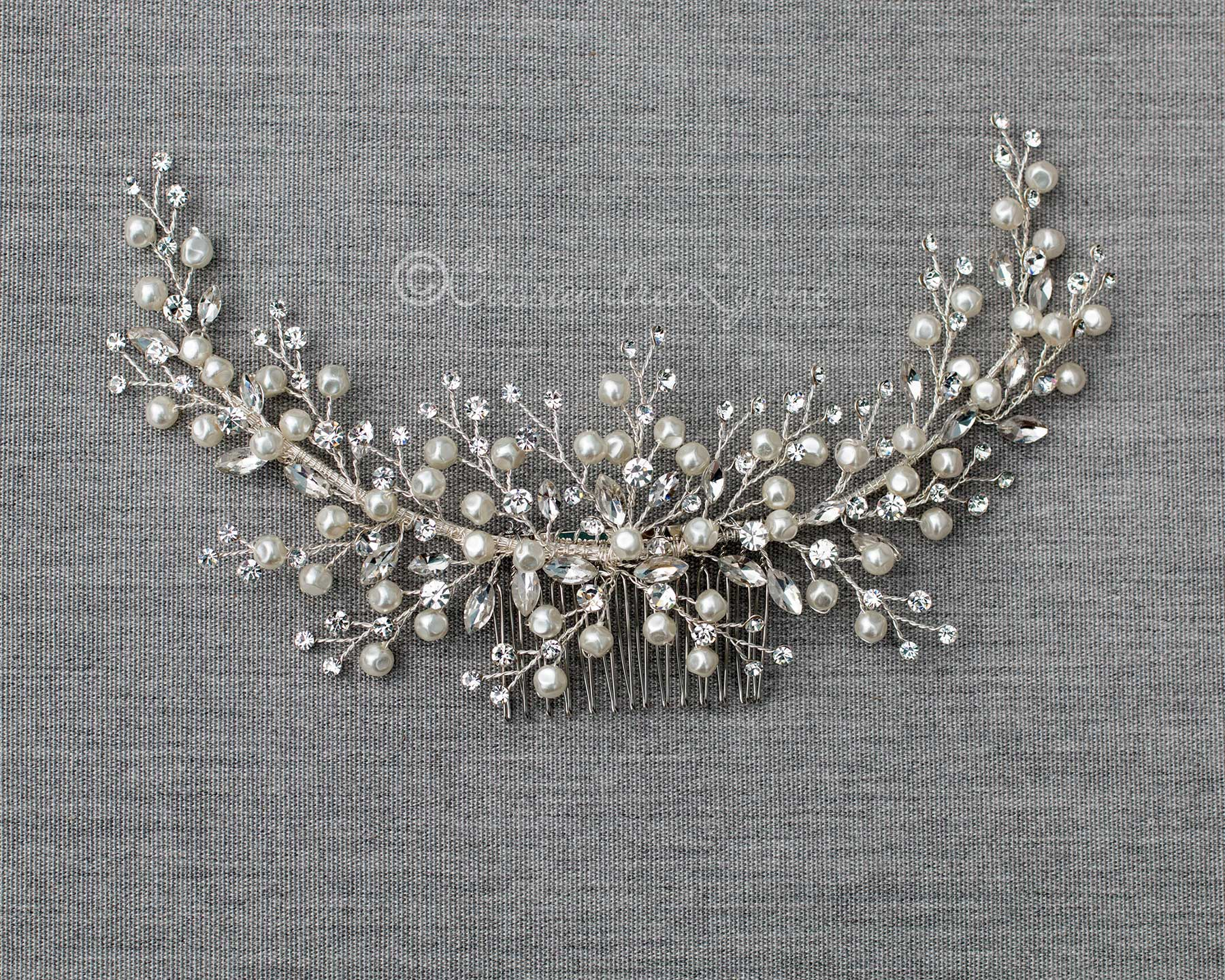 Baroque Pearls and Rhinestones Bridal Headpiece