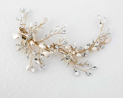 Gold Beach Wedding Starfish Clip