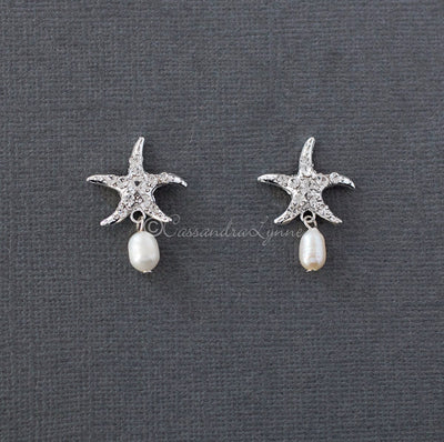 Beach Wedding Day Earrings of Starfish