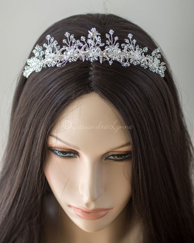 Beach wedding accessory tiara