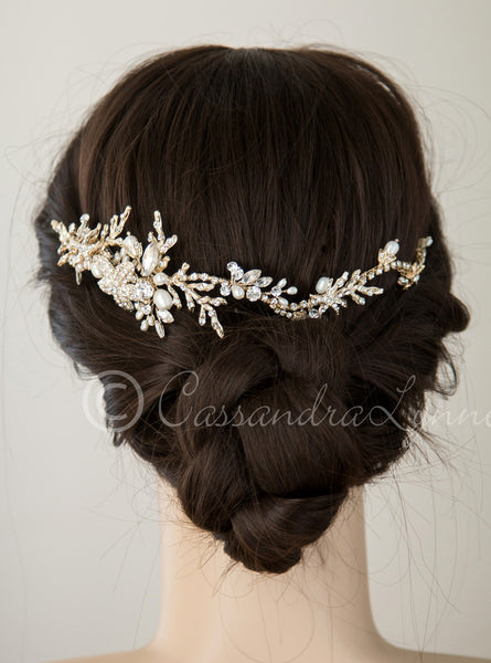Beach Wedding Headpiece With Starfish And Coral