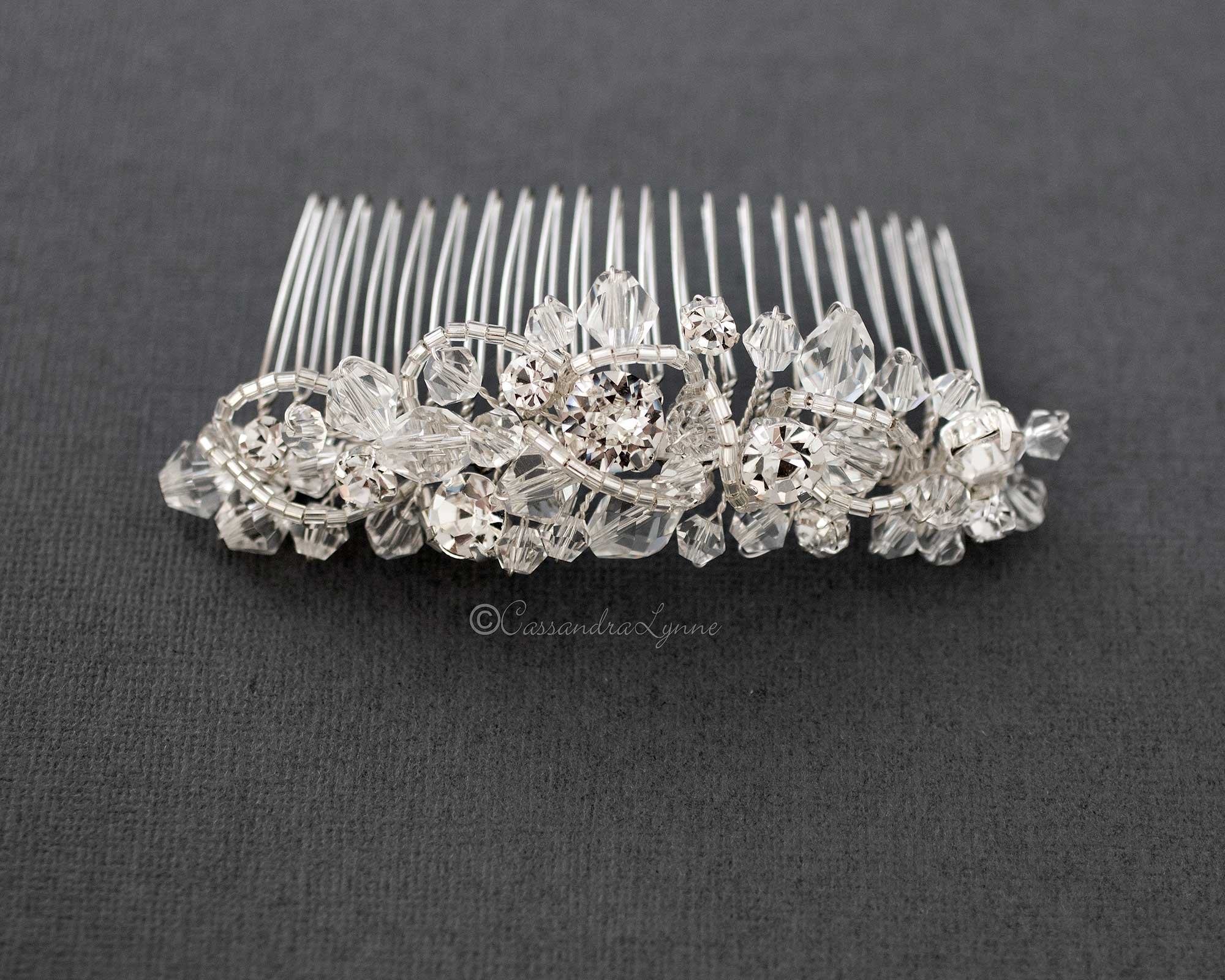 Crystal Beaded Tiara Comb