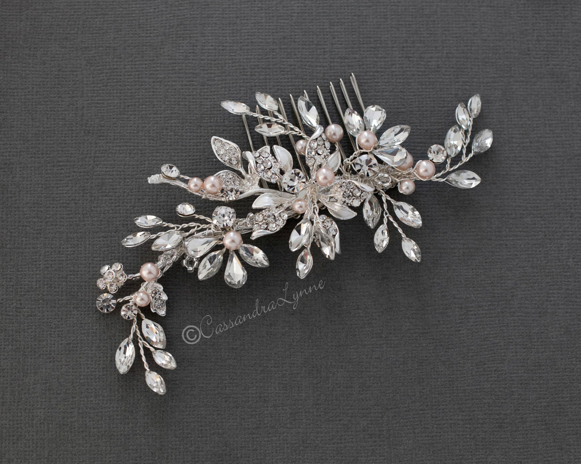 Blush Pearl Wedding Hair Comb